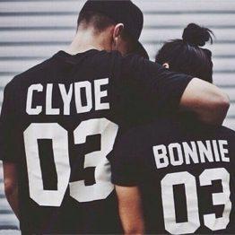 Bonnie and Clyde t-shirts zwart