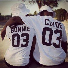 bonnie en clyde shirts wit
