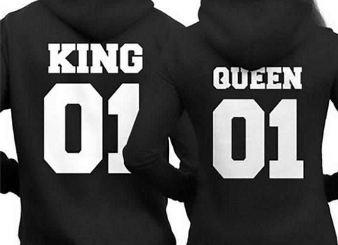King en Queen hoodie sweater