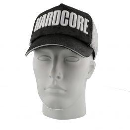 Hardcore trucker cap zwart wit