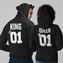 King 01 Queen 01 Hoodies