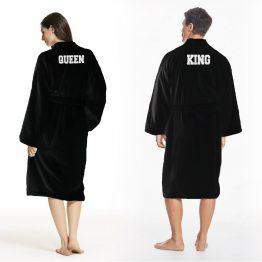 King Queen badjas zwart