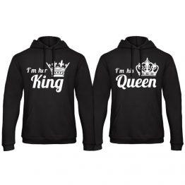 Queen hoodie trui his hers