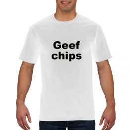 Geef chips shirt wit