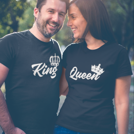 King Queen Shirts Royal