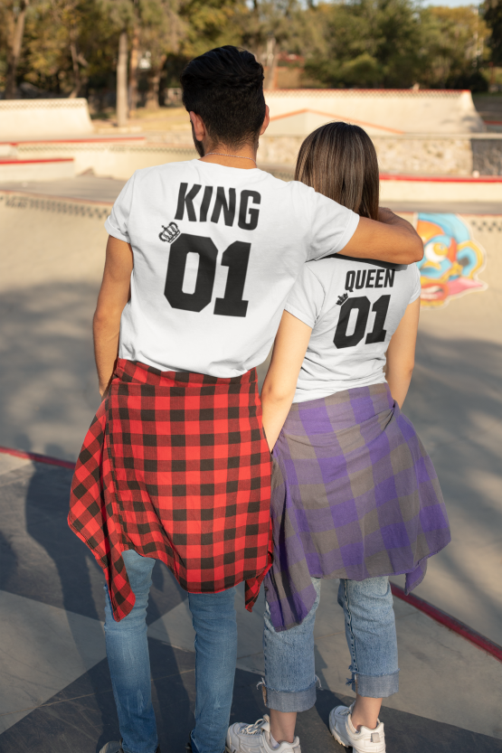 King 01 Queen 01 shirts wit