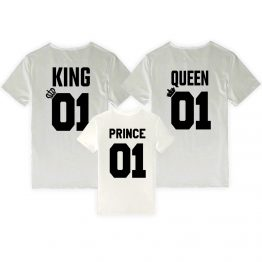 King Queen Prince shirts wit