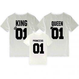 King Queen Princess shirts