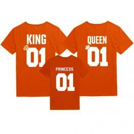 Koningsdag shirts King Queen Princess