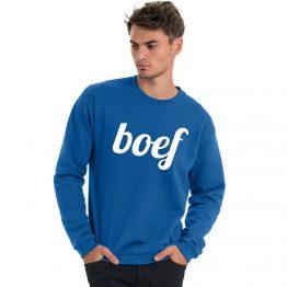 Boef trui blauw modern