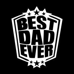 Vaderdag kleding best dad ever 1