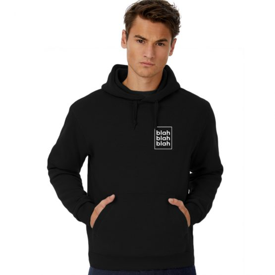 Blah blah blah hoodie pocket