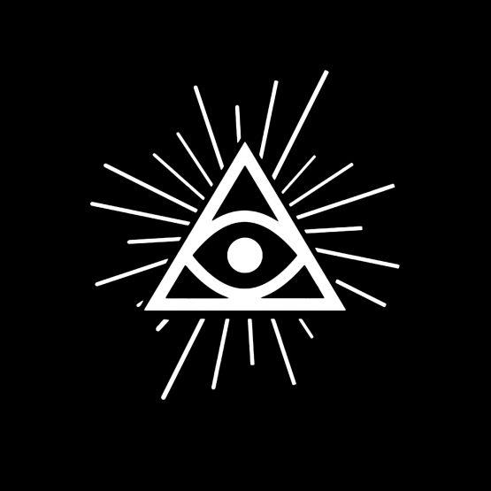 Illuminati shirt eye simpel opdruk 4