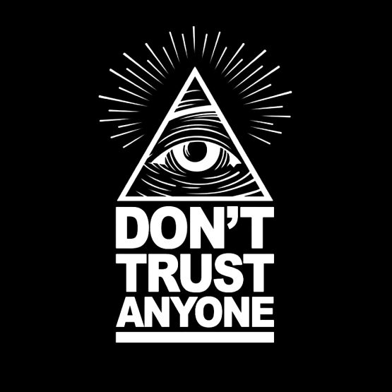 Illuminati sweater trui dont trust opdruk