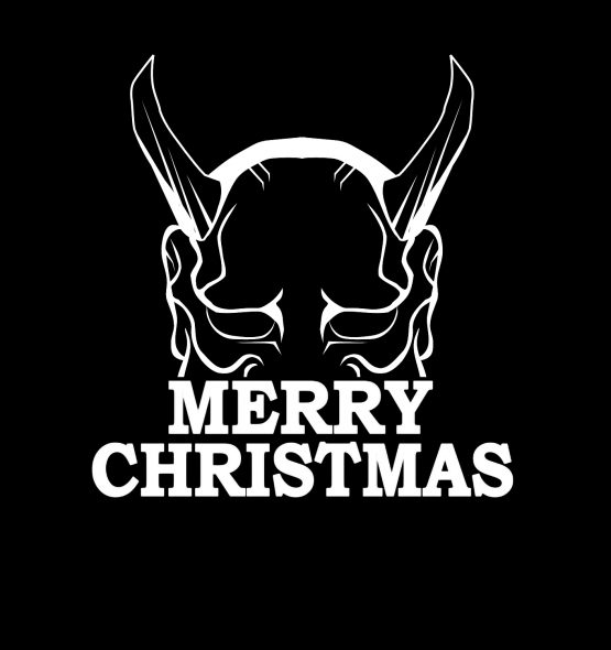 Merry Christmas Kersttrui Zwart Devil