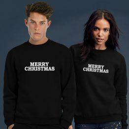 Merry Christmas Kersttrui zwart