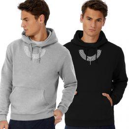 Aztec hoodie Neck Simple
