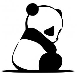 Sad panda kleding opdruk