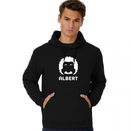 Albert Einstein hoodie cartoon