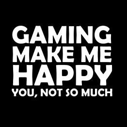 Gaming shirt Happy opdruk