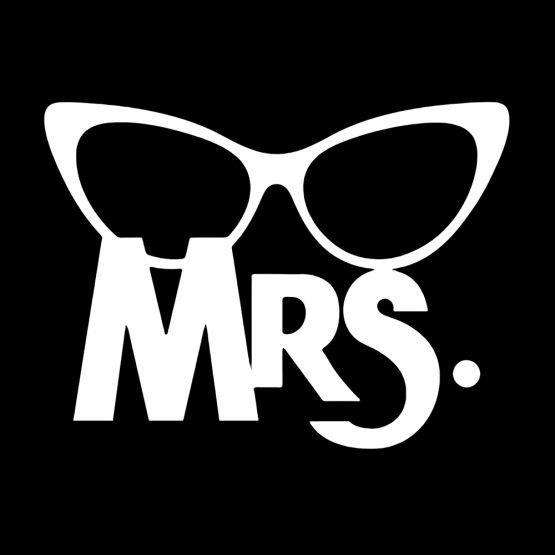 Mr Mrs hoodie bril