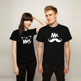 Mr & Mrs shirt snor bril