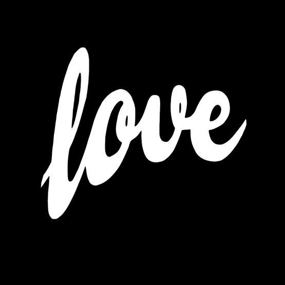 Valentijn sweater Love opdruk