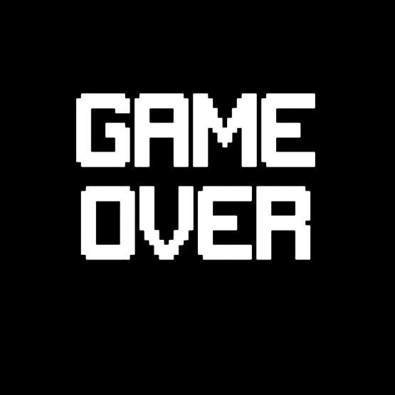 Game over hoodie sweater opdruk