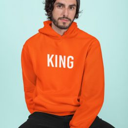 Koningsdag Hoodie King Tekst
