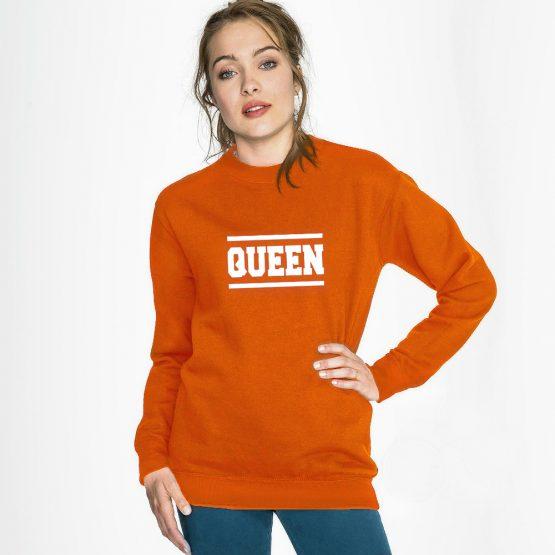Koningsdag trui Queen Stripes