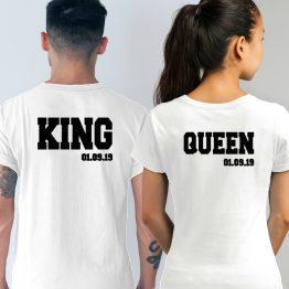 King Queen Shirt met Datum wit