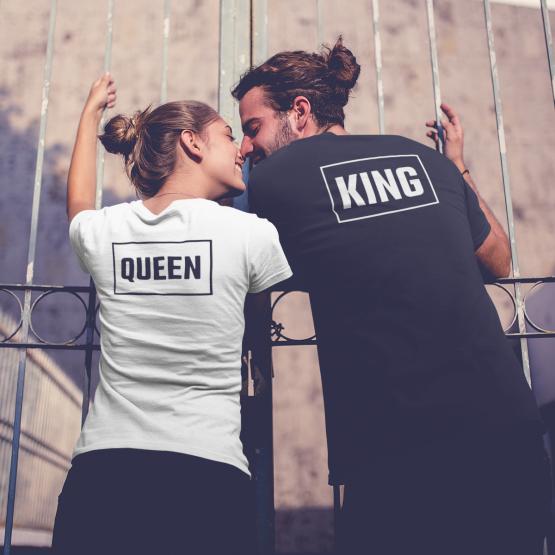 King Queen Shirts Box Back