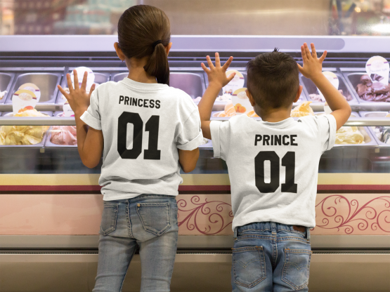 Prince Princess 01 shirts wit