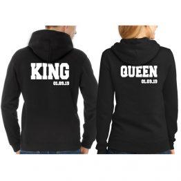 King Queen Hoodie met Datum