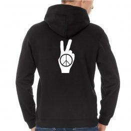 Peace hoodie Hand Sign