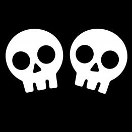 Halloween Skulls opdruk