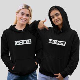 Blondie & Brownie Hoodie Block