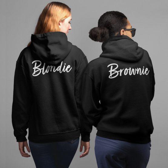 Blondie & Brownie Hoodie Handwritten