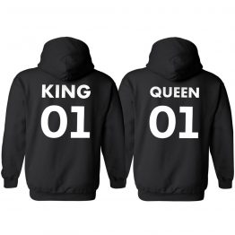 KING QUEEN 01 Hoodies Nu