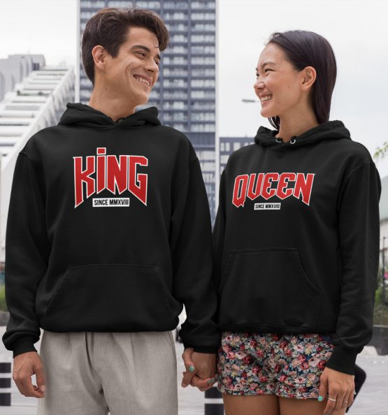 King Queen Hoodies Premium Set