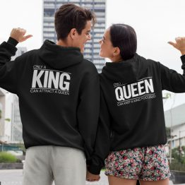King Queen Hoodies Set Premium Only