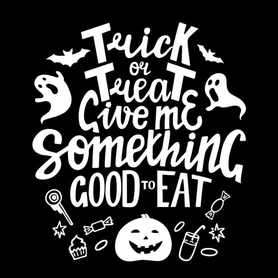 Trick or Treat Halloween opdruk