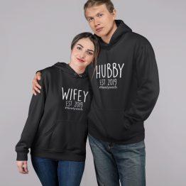 Hubby & Wifey Hoodie Met Datum