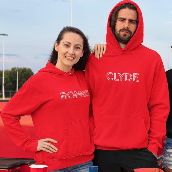 Bonnie Clyde Hoodies Rood Best