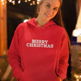 Kerst Hoodie Merry Christmas