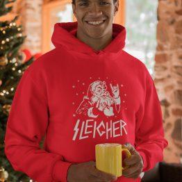 Kerst Hoodie Sleigher