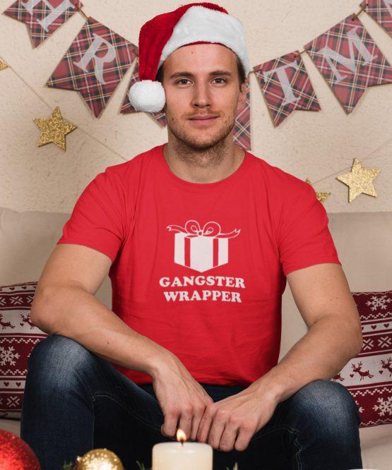 Kerst T-shirt Gangster wrapper