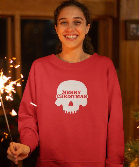 Kersttrui Merry Skull
