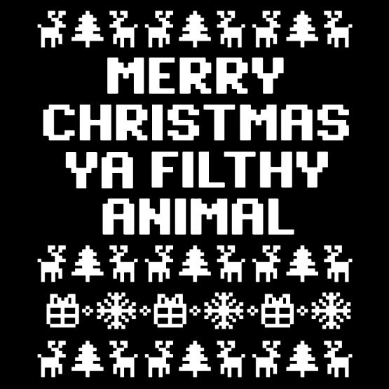 Kerstkleding Opdruk Filthy Nu