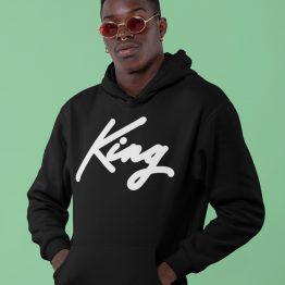 King Hoodie Premium Black